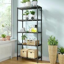 5 Tier Layer Shelf Adjustable Wire Metal Shelving Rack Garage Storage Organizer