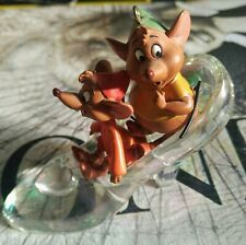 Rare Disney Store Cinderella Glass Slipper Gus & Jacques Figurine