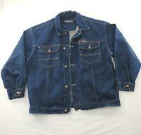 Pelle Pelle Marc Buchanan Mens Denim Jacket Coat sz XL