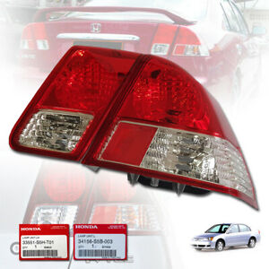 FOR HONDA CIVIC DIMENSION ES 2001-05 RIGHT SIDE REAR TAIL CLEAR LAMP LIGHT RED