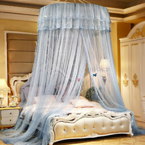 Princess Mosquito Net Netting Mesh Elegant Lace Canopy Dome Washable Bedding New