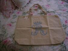 Shabby Chic Couture Rachel Ashwell Shopper Market Travel Tote Bag Cotton Canvas