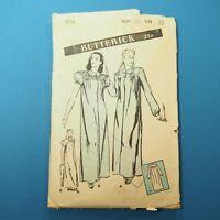 Vintage 1940s Butterick Pattern 3116 ~ Women's & Misses' Nightgown ~ Size 18