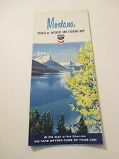 Vintage 1965 CHEVRON Montana Gas Service Station Road Map