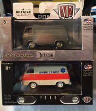 M2 Machines Limited Edition 1964 Ford Econoline Ambulance + Titanium Delivery