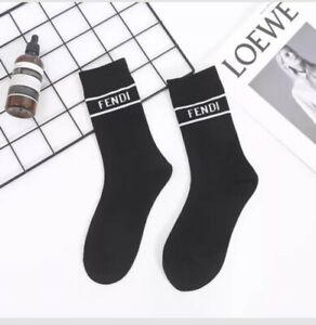 FF Designer Inspired Socks Black