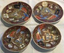 Estate Moriage Occupied Japan Fairyland China Plate Saucer Lot 4 pc Brown *