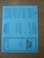 """1961/1962 Cambridge & distrito árbitros sociedad: """"triples's la recaudación de fondos tarjeta (UNU"""