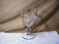 """Libbey Crystal Gibraltar Clear Water Goblet 6 3/4"""""""