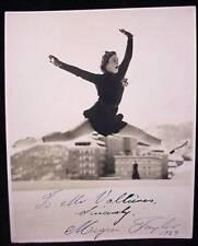 Megan Taylor Figure Skating Autograph 1939 Photo Signed