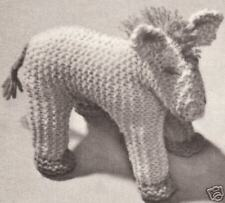 Horse Stuffed Animal Baby Toy Knitting Pattern Vintage