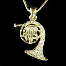 Con Cristal Swarovski Cobre Dorado P Trompa Trompeta Corneta Collar Colgante