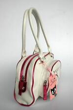 PUSSY DELUXE VINTAGE Handtasche Tasche weiß NEU