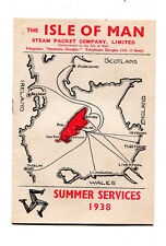 Vintage Cruise Ship Schedule ISLE OF MAN STEAM PACKET CO Summer 1938