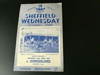 SHEFFIELD WEDNESDAY V SUNDERLAND 1952/53