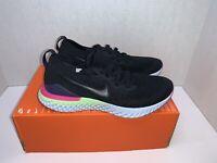 Nike Epic React Flyknit 2 Running Shoe US 7Y Women 8.5 Black AQ3243-003 MSRP$125