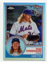 2018 Topps Chrome NOAH SYNDERGAARD Rare 1983 REFRACTOR #83T-14 New York Mets SP