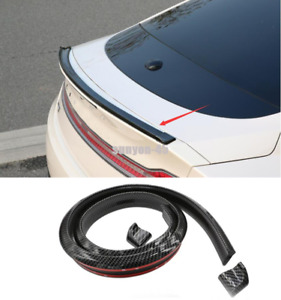 2013-20 For Lincoln MKZ Soft carbon fibers Look Rear Tail Trunk Spoiler Wing Lip