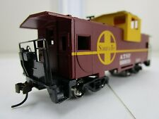 "HO Gauge-Bachmann ""Silver Series"" Santa Fe - 36' Wide-Vision Caboose"