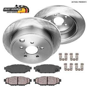 For Subaru Impreza Forester Legacy Outback BRZ Rear Brake Rotors + Ceramic Pads