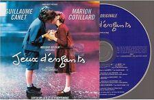 JEUX D'ENFANTS ost CD PROMO zazie donna summer LA VIE EN ROSE card sleeve FRANCE