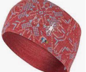 New! SMARTWOOL Merino 250 Reversible HEADBAND Red Patterned 100% Merino Wool