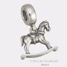 Authentic Pandora Sterling Silver Hanging Rocking Horse Bead 791413