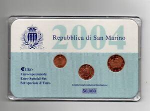 SET SPECIAL EURO SAN MARIN 5 CENT 2 CENT ET 1 CENT 2004