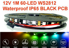 12V WS2812 Neopixel clone RGB 60 Addressable LEDs. 1m Strip Black PCB waterproof