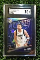 2019 Luka Doncic Panini Donruss Optic My House Holo SGC 10, Comp PSA BGS, Silver