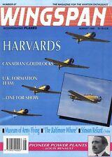 WINGSPAN MAGAZINE 1990 AUG HARVARDS, CANADIAN GOLDILOCKS, STINSON RELIANT
