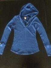 Lucy Women's Long Sleeve T-shirt W/Hood Blue Size XS