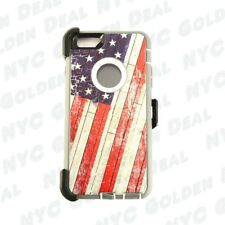 For iPhone 6 / 6S Shockproof Defender Case w/(Clip fits Otterbox) Flag