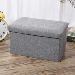 Foldable Fabric Storage Box with lid Drawer Toys/Clothes Shelving Organise