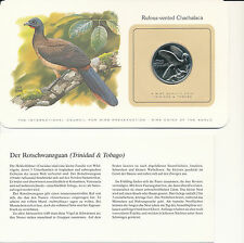 Bird coins of the World - Trinidad 1 Dollar 1980 UNC - Rufous-vented Chachalaca