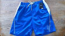 Mens Guys Blue Mesh Lined Nike Swim Trunks Volleyball Beach Shorts Swimsuit M