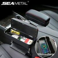 Universal Car Armrest Box Seat Adjustable Elbow Support Organizer Armrest Box