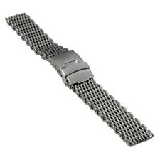 Watch Strap, milanaise / mesh, height 4,3 mm, width 20 mm, steel