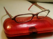 tommy hilfiger youth girls burgundy with pink linning eyeglass frames48/25/130