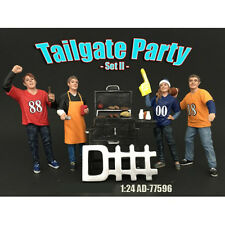 TAILGATE PARTY SET II 4PC FIGURE SET 1:24 SCALE BY AMERICAN DIORAMA 77596