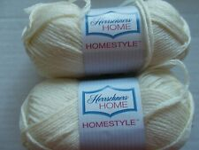 Herrschners Home Homestyle wool blend yarn, Natural, lot of 2 (155 yds ea)