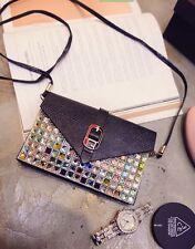 C2006 NEW Python Embossed Multi-Color Rhinestone Cross-body Clutch Handbag SALE