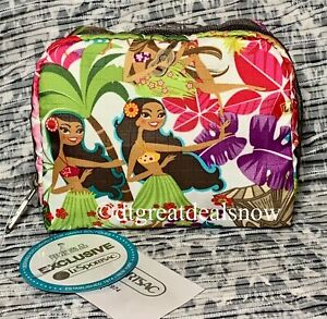 NEW LeSportsac Hawaii Exclusive Square Cosmetic Sweet Wahine 6701 K168