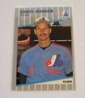 1989 Fleer Randy Johnson #381 RC Montréal Expos Seattle Mariners Diamondbacks