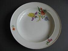 Teller Bunte Blume Meissen Dm.24 cm. 1 Wahl. Marke 1860-1924! 5/8