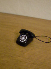 Dollshouse Miniature  ~ BLACK ~ Telephone
