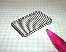 Miniature Stainless Rectangular Cake Cooling Rack!  DOLLHOUSE Miniatures 1/12