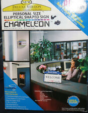 r CHAMELEON DELUXE ELLIPTICAL SHAPED PERSONAL SIZE SIGN GHENT NIB