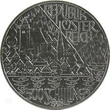 *** 500 Schilling Gedenkmünze ÖSTERREICH 1993 Seenregion Silber Regionen ***