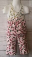 Mary-Kate and Ashley Girls Pink Floral 2 Pc. Outfit Size 24 Months G/C-13